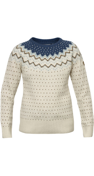 Fjällräven Övik sweater Dames beige/petrol